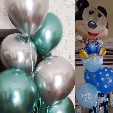 Baloane cu heliu, aer, aranjamente cu folie