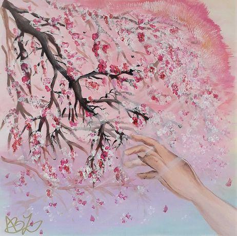 """Pictură în culori acrilice """"Pink Dreams"""""""