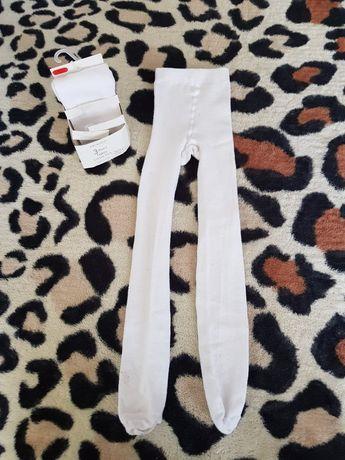 Lot ştrampi albi,6-7 ani,unisex,122 cm,73%bumbac,1 pereche sunt noi