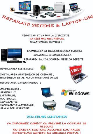 Tehnician IT ofer servicii