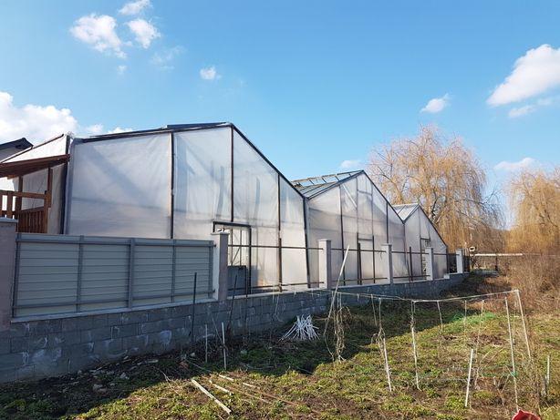 Sera metalica galvanizata,cu deschidere acoperis