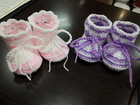 Плетени ботуши пантофки