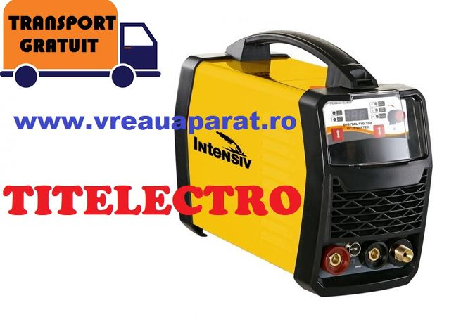 DIGITAL TIG 200 INTENSIV - Aparat sudura inox, otel, tabla, cu argon