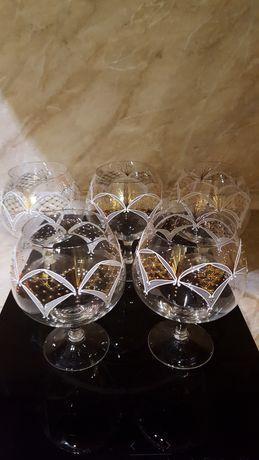 Кристални чаши рисувани
