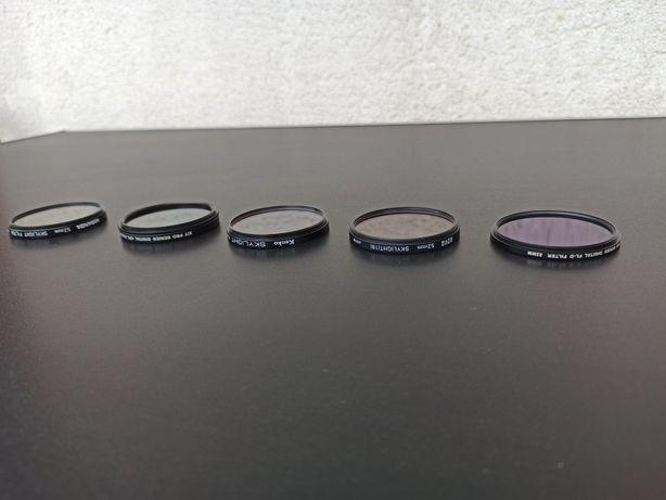 filtre filtru foto 52 mm hoya uv skylight 1A 1B nd obiectiv CPL FLD