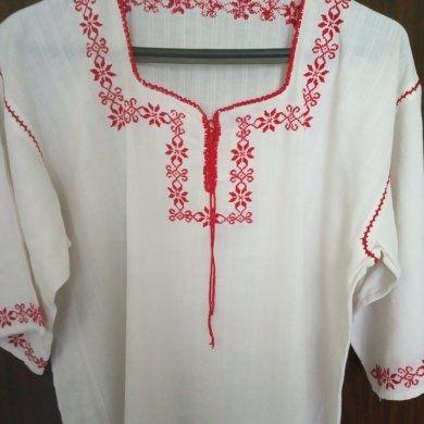 Ръчно бродирана риза от кенар