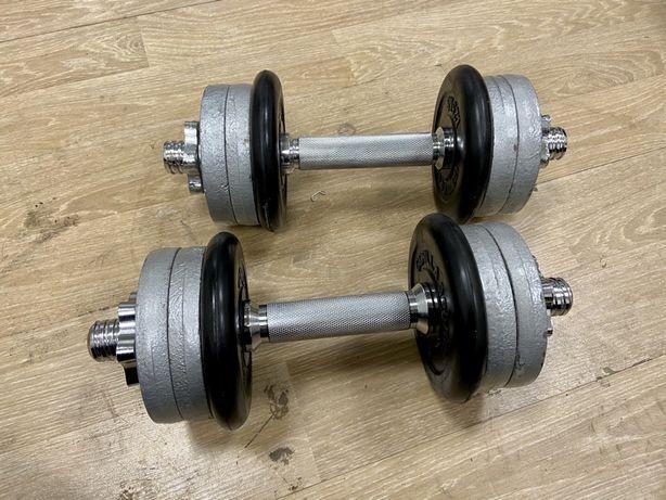 Gantere profesionale reglabile noi germany  20 kg ambele, 10+10=20 kg