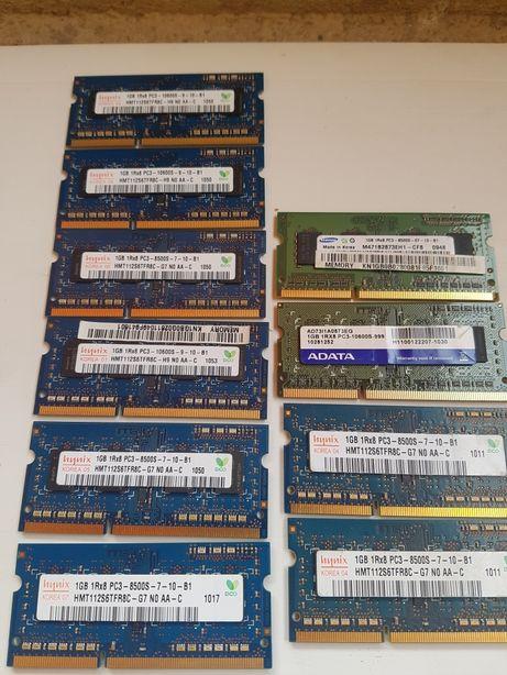 Memori RAM 1Gb pc3 laptop : samsung ,adata, hynix