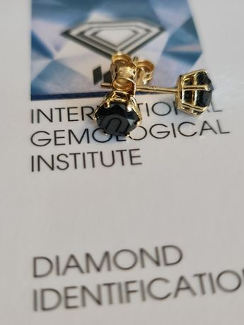 Cercei diamant negru 2.0 carate noi superbi