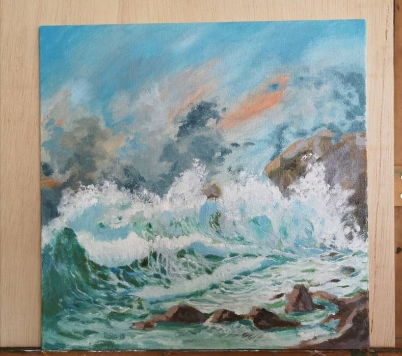 Mare Valuri Tablou Pictura Original