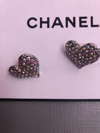 Дамски обеци Шанел лукс с камъни кристали