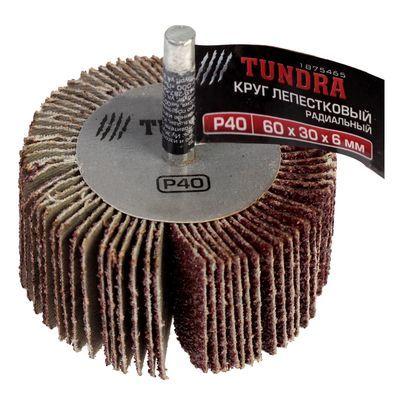 Круг лепестковый радиальный TUNDRA, 60 х 30 х 6 мм, P40