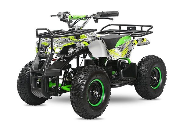 ATV electric pentru copii NITRO Torino Quad 1000W 48V GRAFITI #Verde