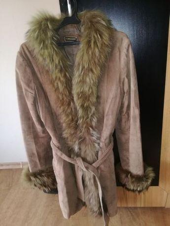 TOMAHAWK палто, манто, тренч- естествена кожа и естествен косъм