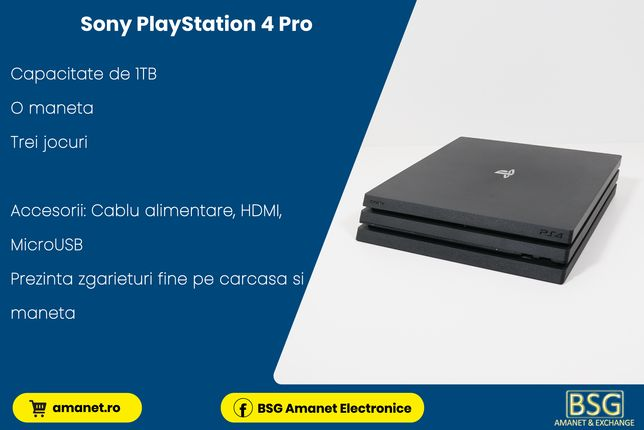 Consola Sony PlayStation 4 PRO 1TB - BSG Amanet & Exchange