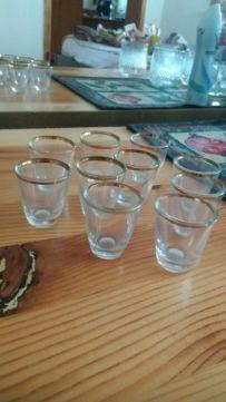 Ракиени чашки дебело стъкло