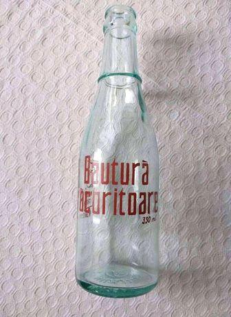 Sticla veche de suc, sticla de colectie perioada comunista