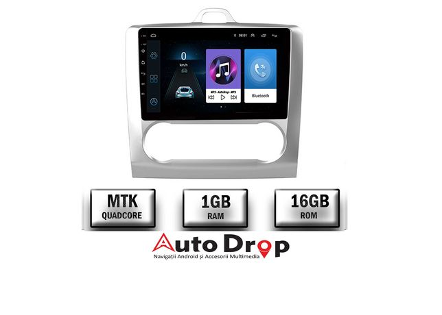 Navigatie Ford Focus MK2 2004-2011, 1GB RAM + 16 ROM, 9 INCH