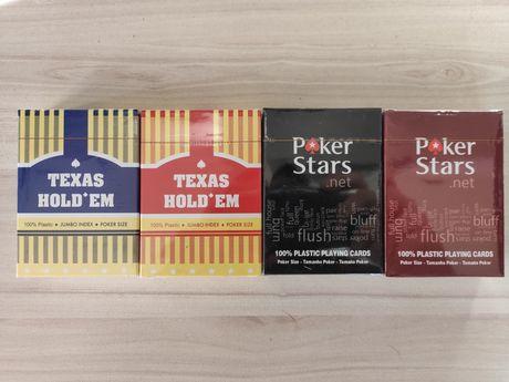 Карти супер пластик за игра Poker stars /Texas Hold 'em казино размер