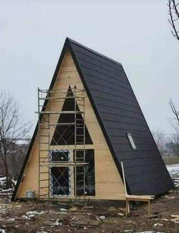 Vindem cabane și căbănuțe de locuit permanent sau pentru camping