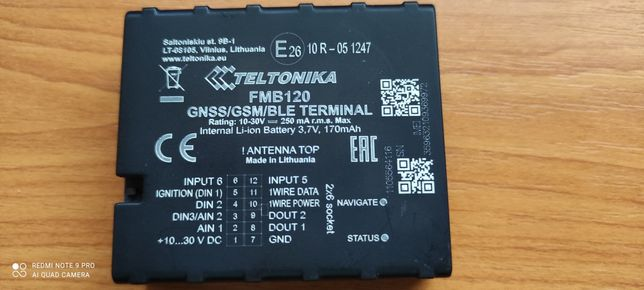 GPS Tracker GNSS Teltonika FMB120