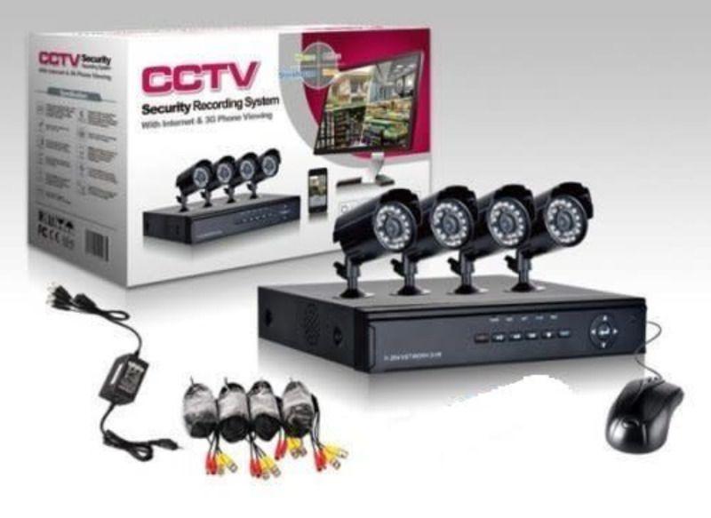 Лукс AHD 4 камери Sony Пълен Комплект видеонаблюдение охранителни dvr