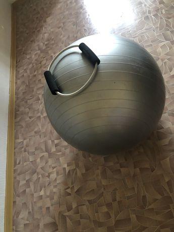 Фитнес мяч и фитнес резинка Минисо