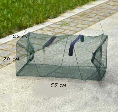 Сгъваема мрежа/кош за улов на риба - 2 отвора