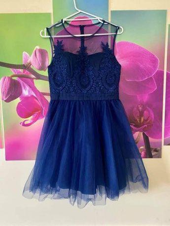 Тъмно синя рокля Chi Chi London