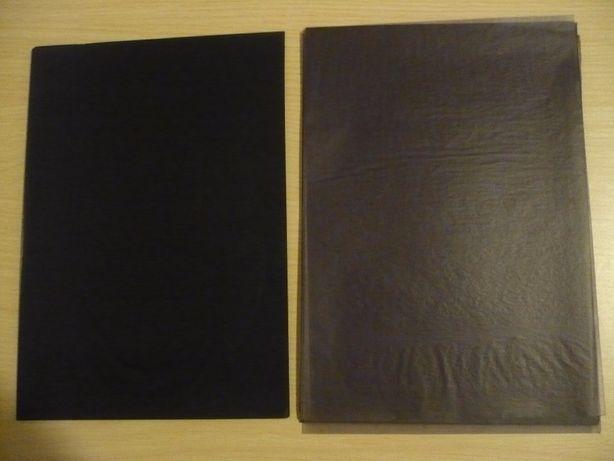 Копировальная советская бумага черного и фиолетового (синего) цвета