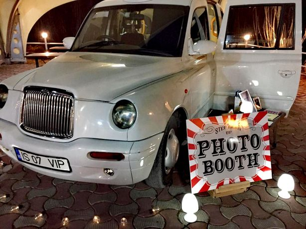 Cabina foto, bar mobil, fum greu, TaxiPhotoBoot