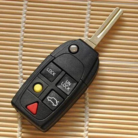 Кутийка на дистанционно и ключ за Volvo S40, V40, C70, S60, Волво