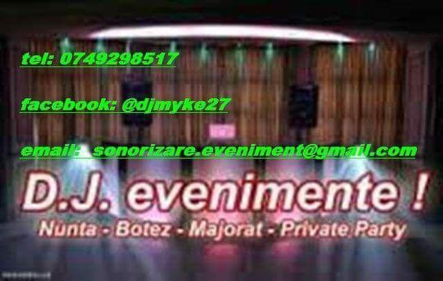 Dj  evenimente- Sonorizare evenimente private