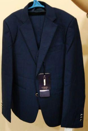 Костюм шалбар школьный форма темно синий 38 размер