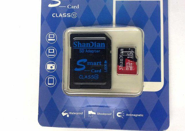 Карта памяти MicroSD 16Gb Новая
