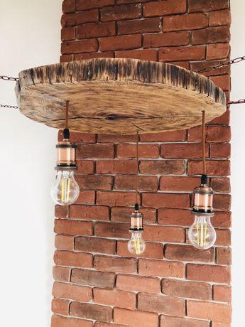 Corpuri de iluminat LED vintage - stejar