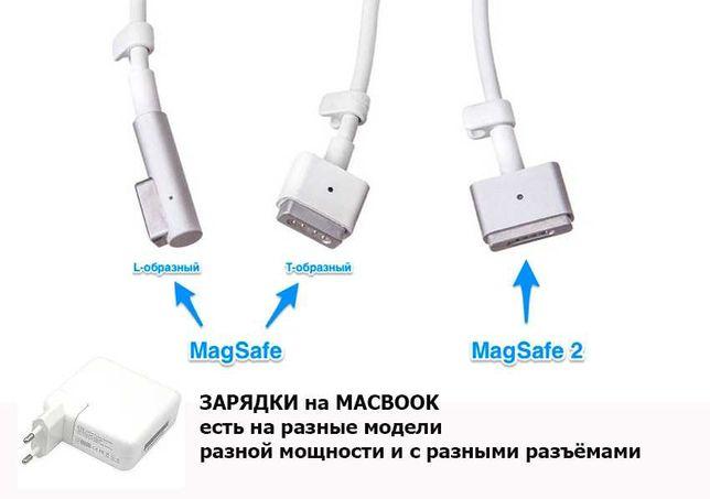 блоки питания зарядки зарядные устройства на MACBOOK для разных
