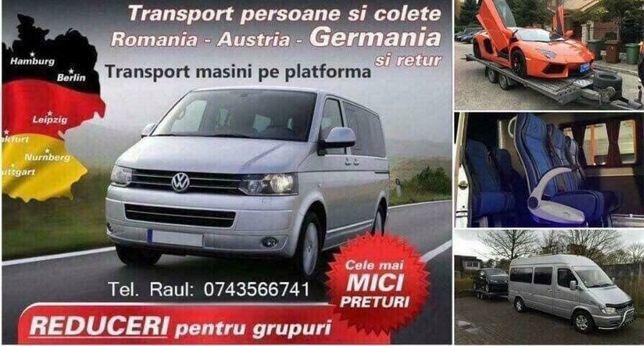 Transport Persoane,Colete,Autoturisme Austria-Germania SAPTAMANAL
