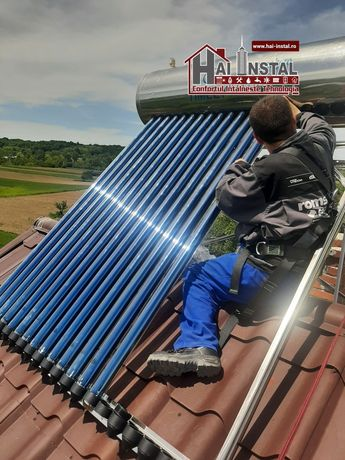 Panouri solare presurizate apa calda heat pipe toate anotimpurile