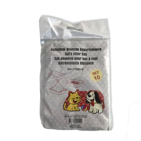 Set pungi / saci pentru litiera , 10 buc , 79 x 36 cm