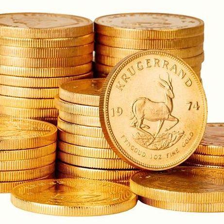Moneda aur 34grame Krugerrand 1 oz aur pur lingou aur