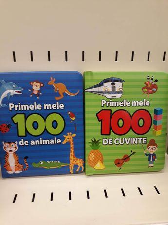 Set 2 cărți educative cartonate copii