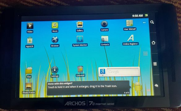 ARCHOS 70 - 250GB internet tablet