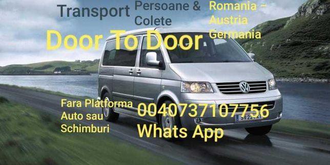 Transport persoane si colete Romania-Germania-Olanda-Belgia si retur