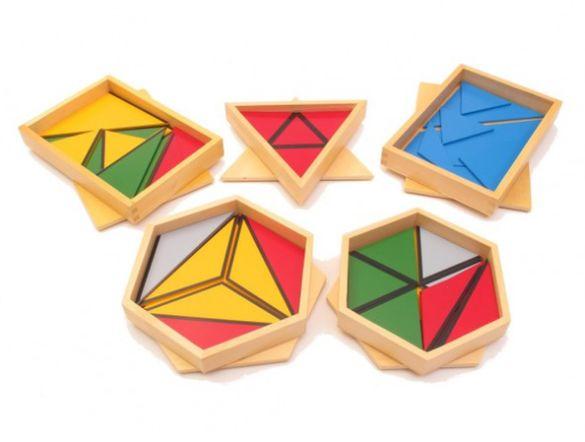 -10% Конструктивни триъгълници Монтесори / всички Монтесори материали
