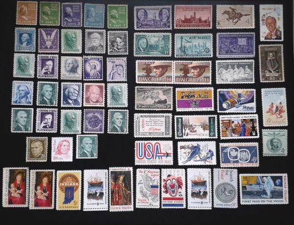 Lot nestampilate America Sua timbre u.s.a timbru s.u.a vechi straine