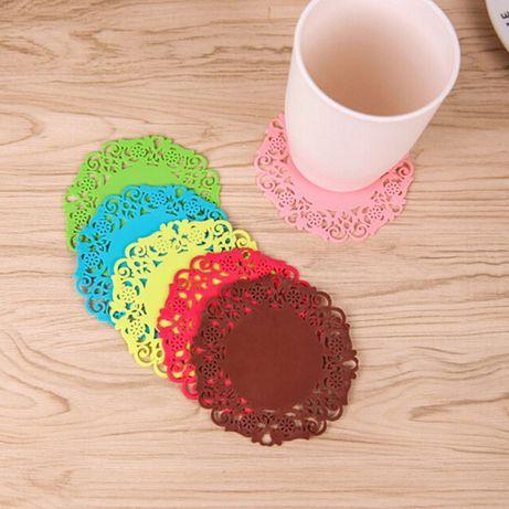 Комплект 6 броя силиконови подложки за чаши