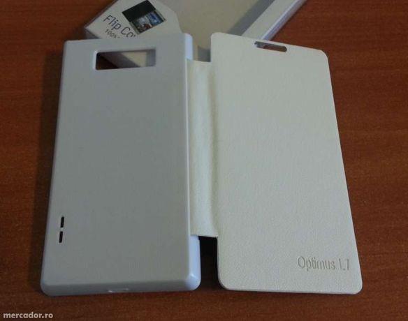 Husa ALBA Toc Flip Cover LG Optimus L7 P700 + Folie