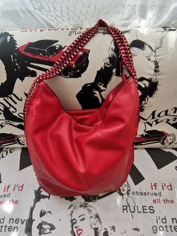 Бутикова Дамска чанта с плетена дръжка