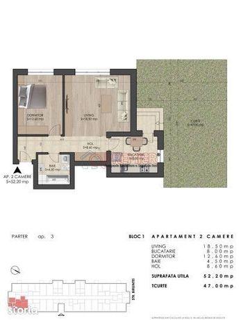 Apartament 2 Camere - Gradina Proprie de 47mp - Metrou Berceni -